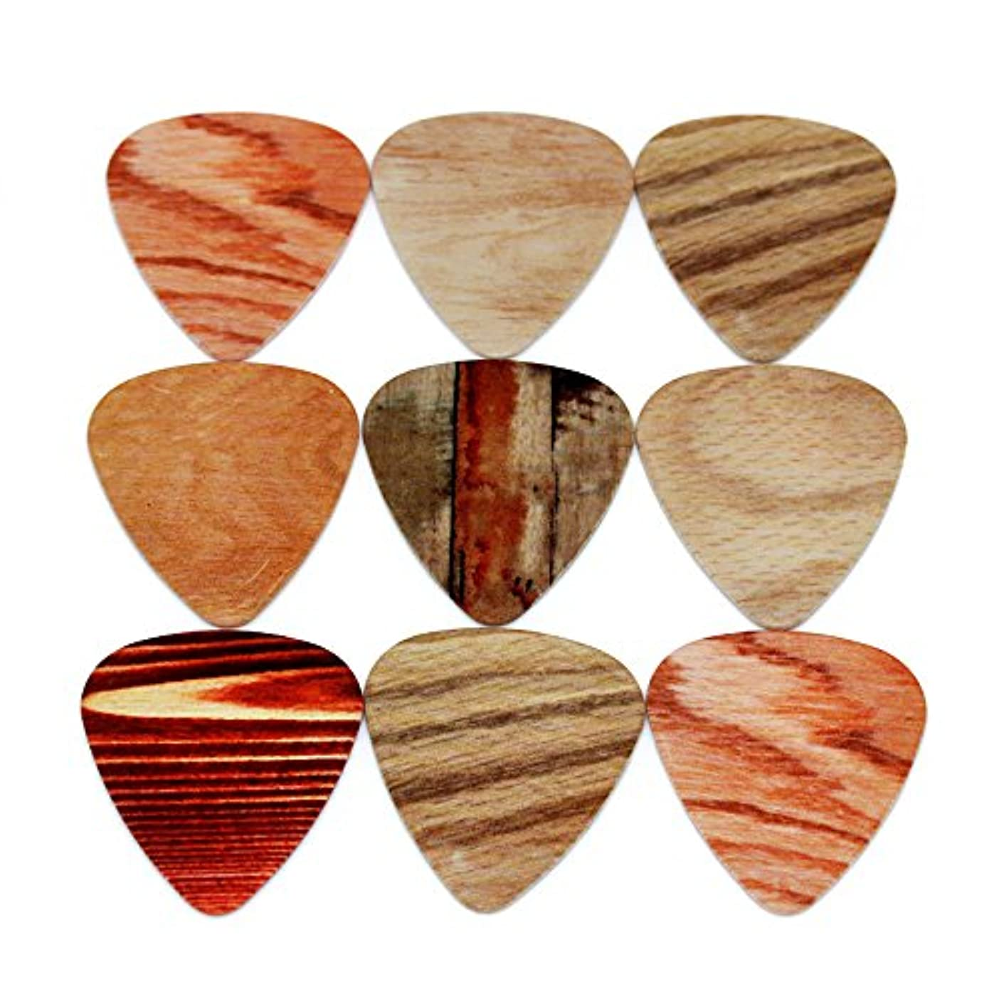 噂灌漑さようならSOACH 10pcs Newest Wood grain Guitar Picks Thickness 0.71mm guitar strap guitar stringsThickness 0.46mm Thickness 1.00mm