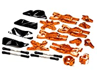 Integy RC Model Hop-ups T8695ORANGE Billet Machined Suspension Kit for HPI 1/10 Bullet MT & Bullet ST