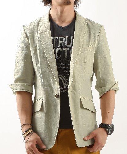 4color 綿麻7分袖テーラードジャケット バレッタ