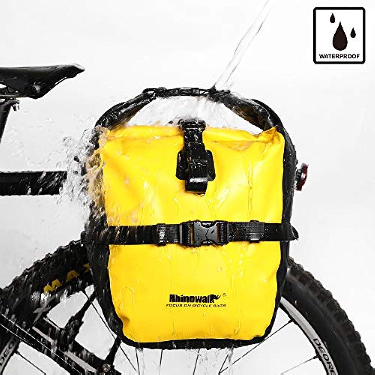 法的フルートディプロマRhinowalk バイクバッグ 防水バイクパニエバッグ 自転車用カーゴラック サドルバッグ ショルダーバッグ ノートパソコンパニエラック 自転車バッグ プロ用サイクリングアクセサリー