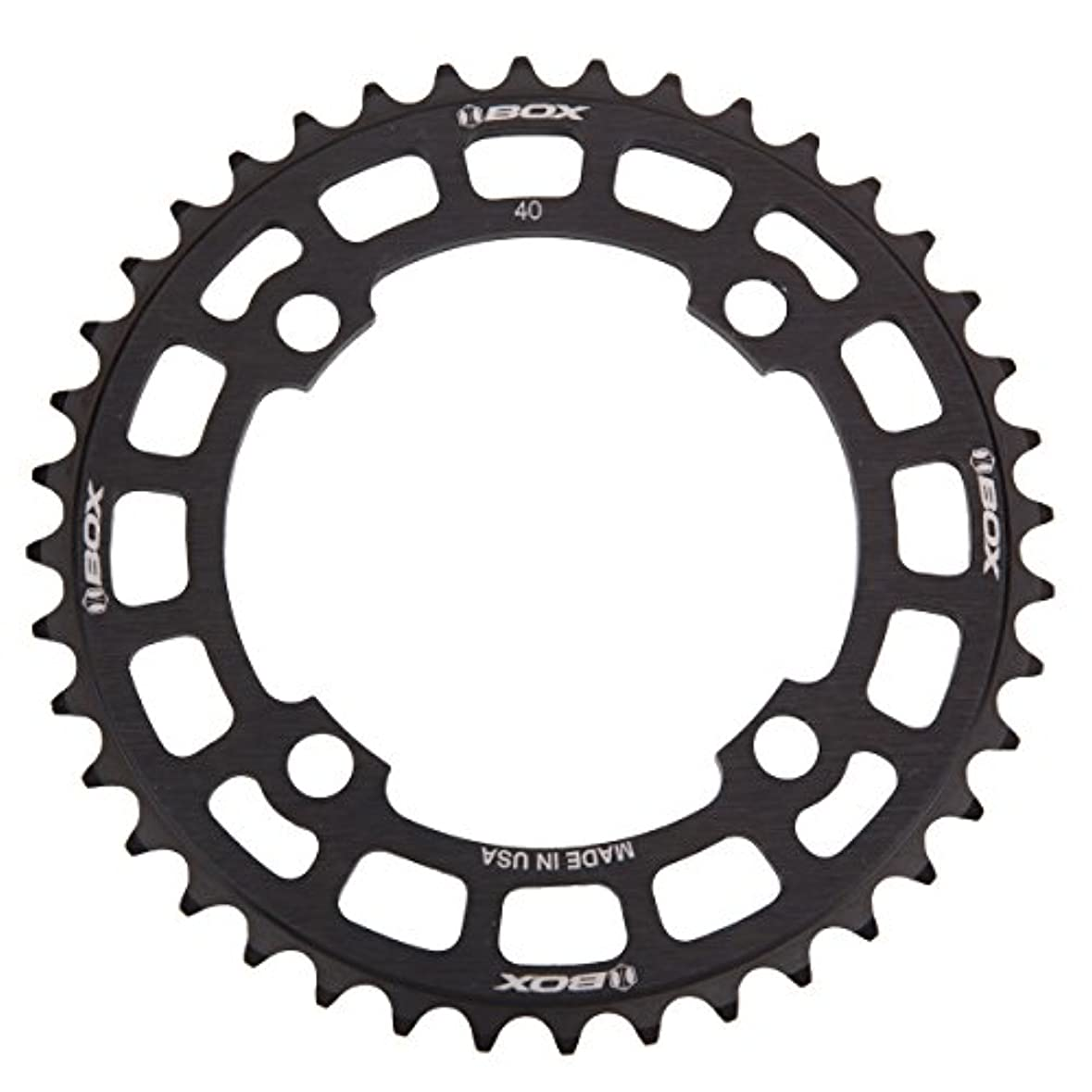 ホール船員雨Cycle Group BX-CR144B40T-BK Box Cosine 40T Chainring, 104mm by Cycle Group