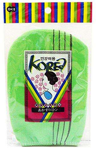 オーエ KO(韓国式) あかすりミトン グリーン 18×13...