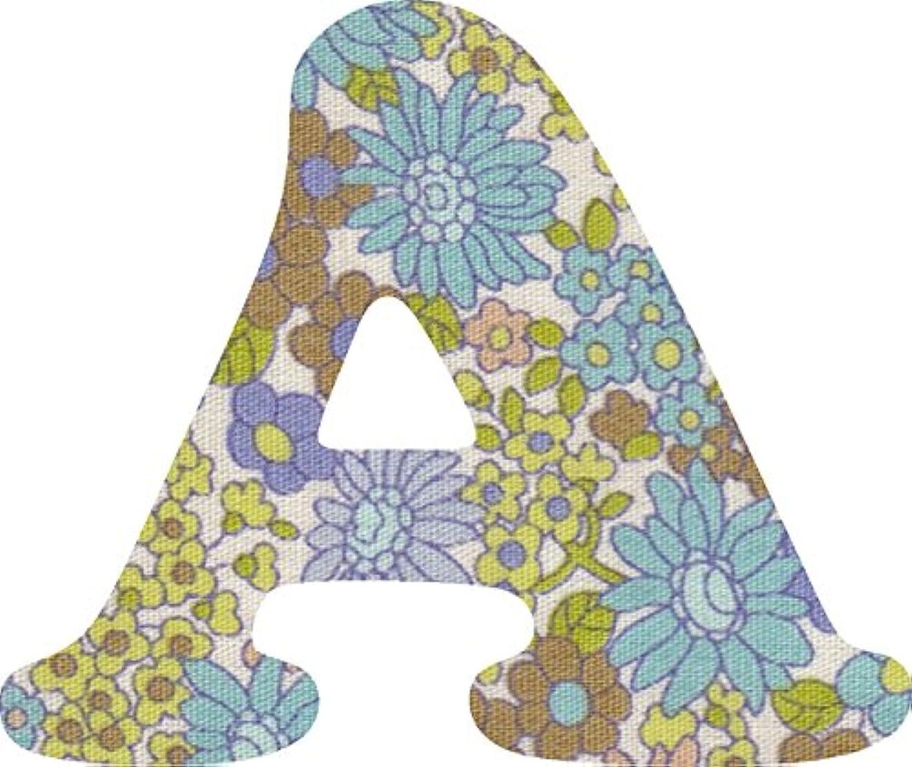 奴隷思われるシャツ花柄 生地 パープル アルファベット A アップリケ アイロン接着可能 大文字 coop