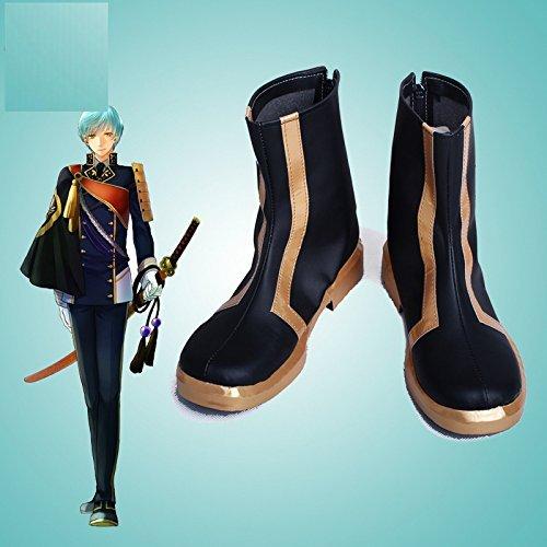 刀剣乱舞-ONLINE- 一期一振 コスプレ靴 コスプレブーツ オーダーサイズ製作可能 大人気 (24.5cm, 女性)