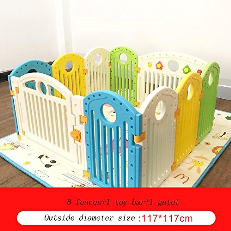 PlaypensベビークロールマットShatter-resistant Fence屋内セーフホームフェンス (サイズ さいず : 8 panel)