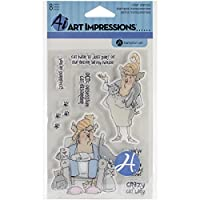 """Art Impressions Clear Stamps 4""""X8""""-Act My Age (並行輸入品)"""