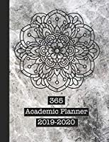 365 Academic Planner 2019-2020: Large page per week view school or college planner diary for all your organisational needs - Grunge texture background with Mandela art