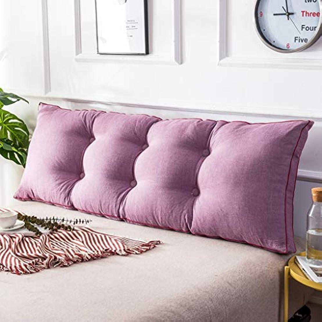 一見周波数ポテトシンプルな家庭用ダブルブレストウォッシュドコットンのベッドバックレストベイウィンドウロングピローソファ大きなクッション取り外し可能と洗える JAHUAJ (Color : C, Size : 200*50cm)