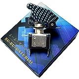 ぶーぶーマテリアル ミサイルスイッチ カーボン調 ON /OFF LED トグル式 電装 3極タイプ 【カーパーツ】