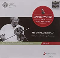 M S Gopalakrishnan - Masterworks from the NCPA Archives July 1978 (Carnatic Violin/Digitally Mastered from the Original Source Tapes) [並行輸入品]