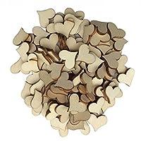 VORCOOL DIYの工芸品のための木製のログスライスディスクウェディングセンターピース木製のハートミニ未仕上げ木製工芸品