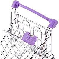 Dovewill ペン、タブ、カードや携帯電話などのようにかわいいと美しいミニショッピングカートトロリー玩具紫色 m