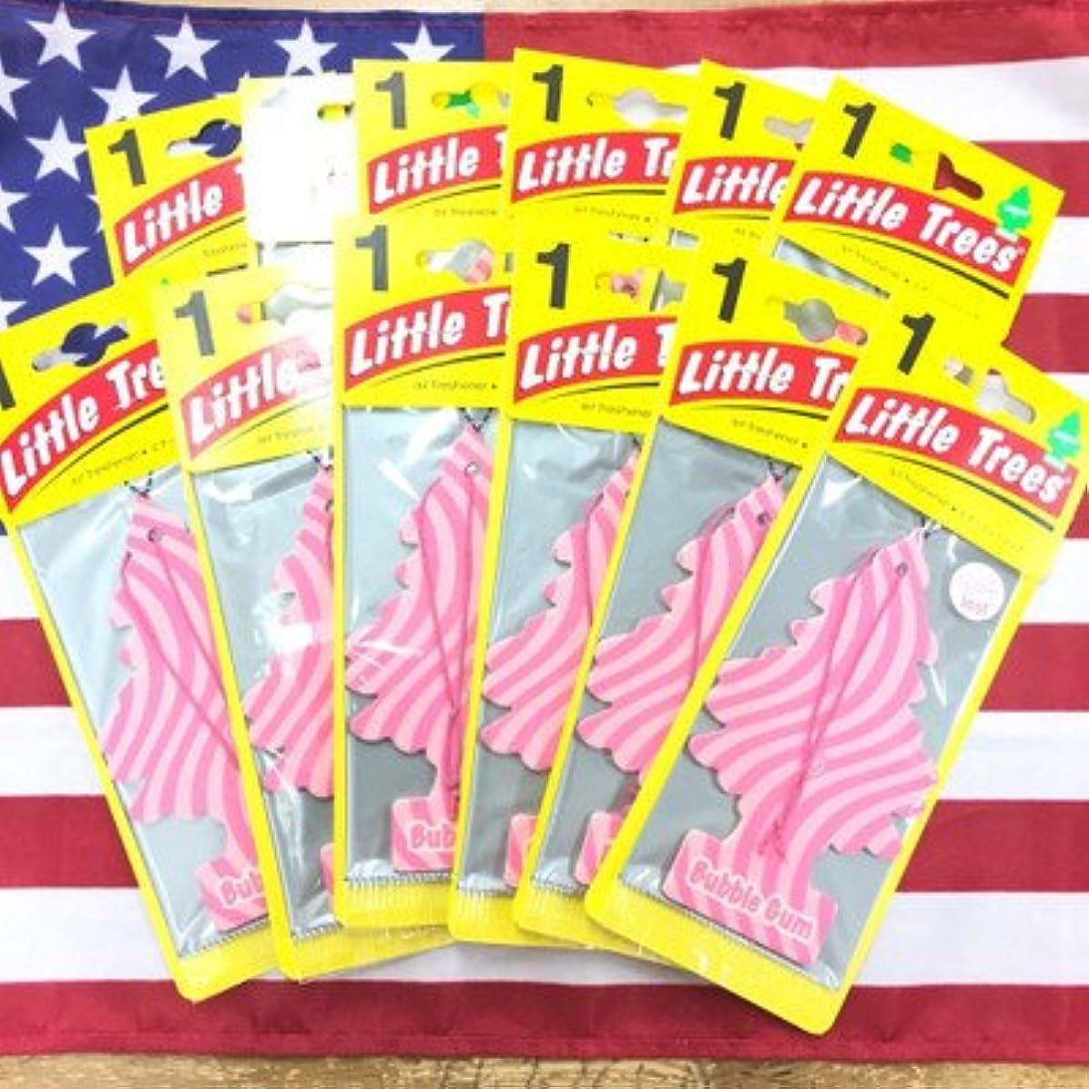 誘惑スリチンモイぴかぴかリトルツリー バブルガム エアフレッシュナー 12枚セット Bobble Gum Little Trees 芳香剤 フレグランス