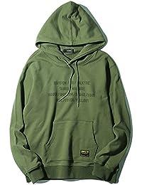 VIISHOW メンズ スウェット 春秋 トレーナーシャツ カジュアル パーカー オシャレ フード付き アクティブウェア オリーブ