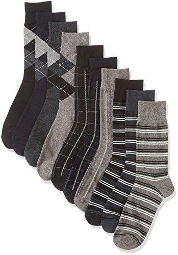 【綿混素材】【靴下 メンズ】 ワンランク上のメンズソックス シンプルデザイン 10足セット