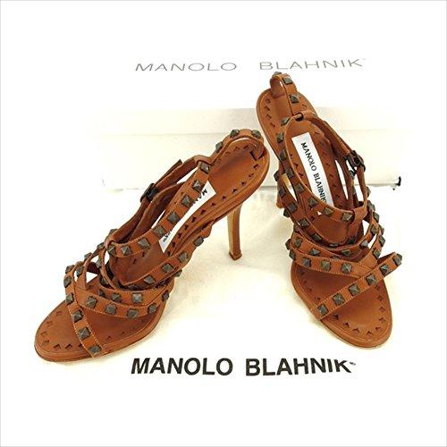 マノロブラニク MANOLO BLAHNIK サンダル #34 12 レディース 中古 C1997