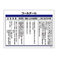緑十字 化学物質関係標識 特38-310 コールタール 035310