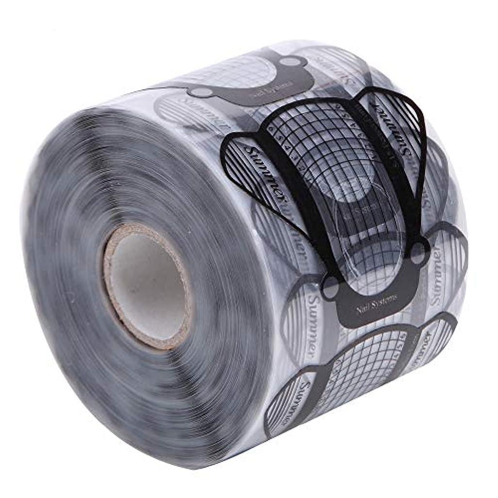 嫌な逆さまに装備するMEI1JIA CELINEZL 500PCS /セットネイルアートアクリルUVジェルのヒントエクステンションビルダーフォームガイドステンシルマニキュアツール(透明) (色 : Transparent)
