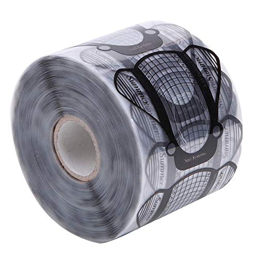 ラッカス魅力的であることへのアピール人気MEI1JIA CELINEZL 500PCS /セットネイルアートアクリルUVジェルのヒントエクステンションビルダーフォームガイドステンシルマニキュアツール(透明) (色 : Transparent)