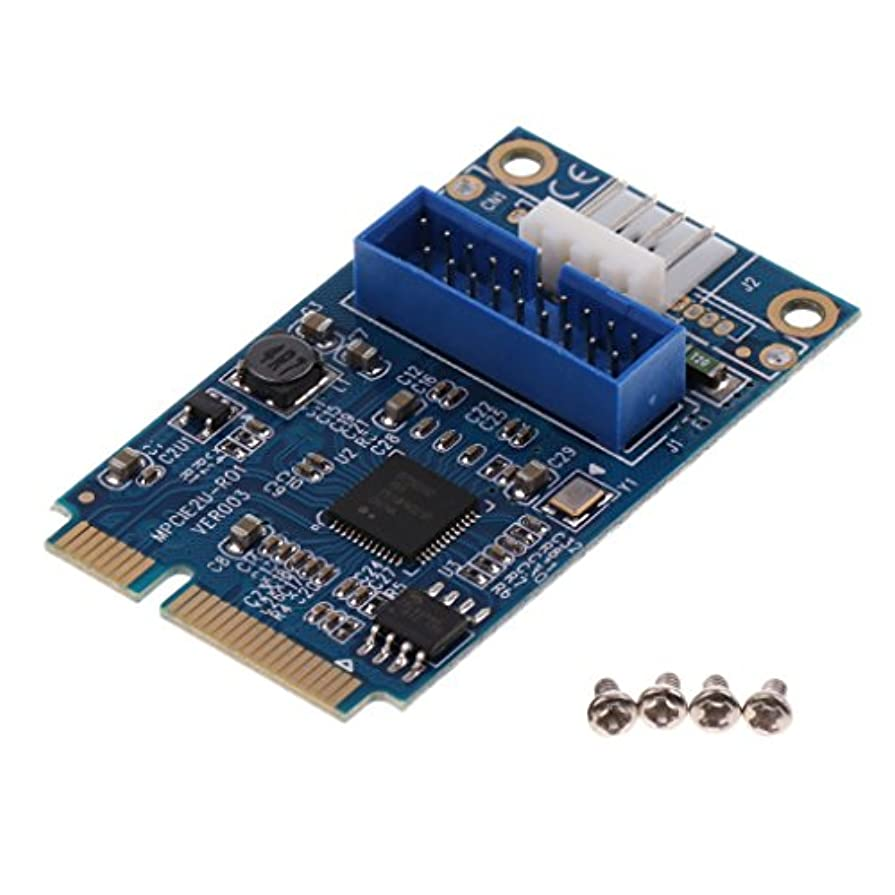 可能北へ囲まれたHomyl マザーボード PCI エクスプレス→USB 3.0 20ピン/19ピン 拡張カード アダプタ