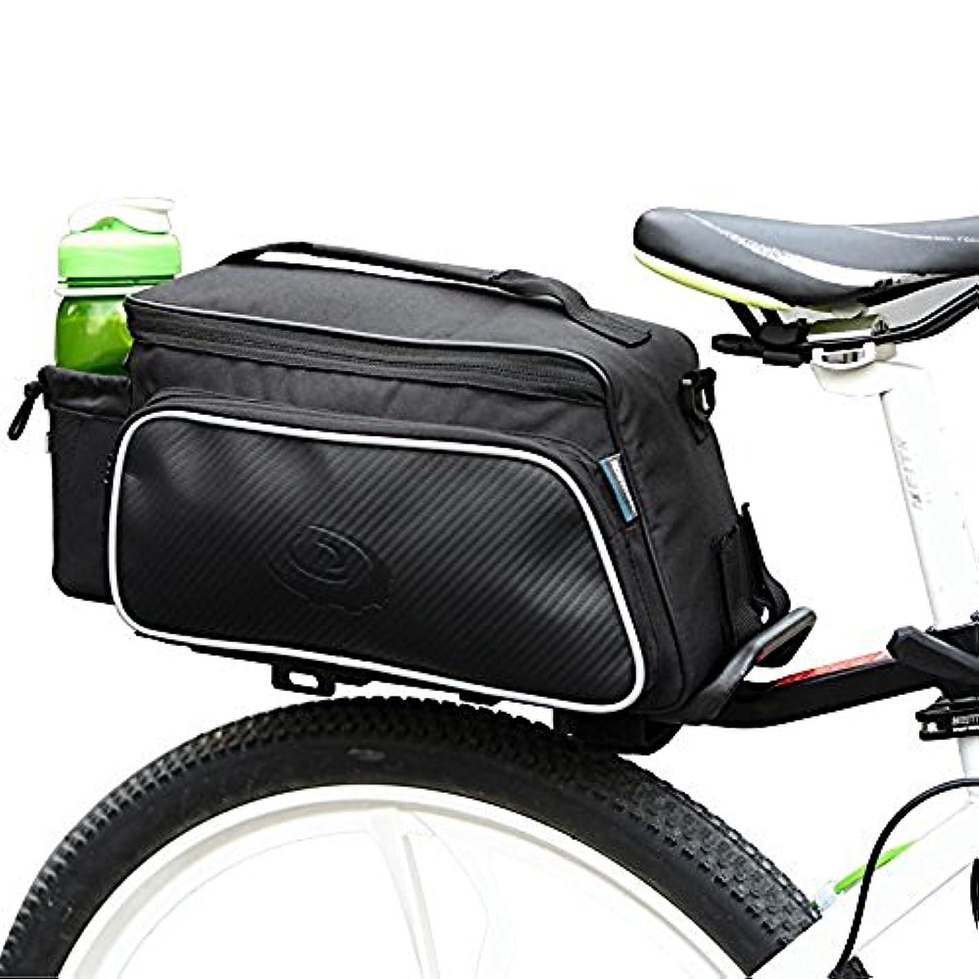 ドキドキランク月面Service-Fox 自転車 リアバッグ 多機能 大容量 サイクル 自転車リアキャリア取付用 トランクバッグ パニアバッグ 着脱式ショルダーストラップ付属 Roswheel