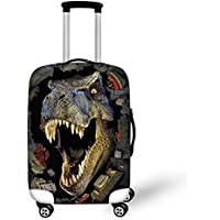 Instantarts Popular Dinosaur Print Spandex Luggage Protective Cover for Suitcase