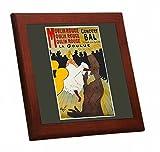 ロートレック『 ムーラン・ルージュのラ・グーリュ 』の木枠付きフォトタイル(世界の名画シリーズ) (C)