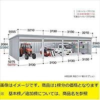 『配送は関東・東海限定』 イナバ物置 ガレーディア GRN-3152HL(基本棟) 一般型 『シャッター車庫 ガレージ』  ステンメタリック(受注色)