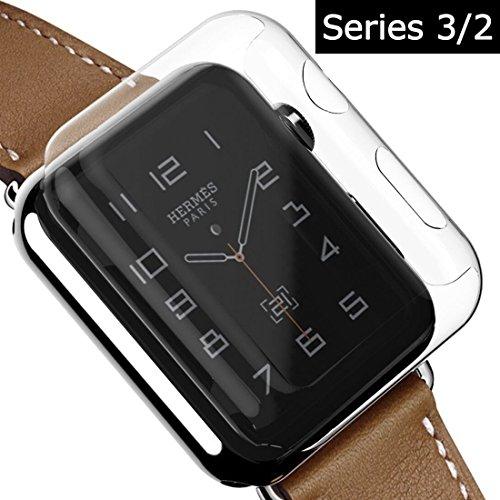 YOLOVIE Apple Watch Series 3 ケース 全面液晶保護カバー 超軽量 透明超簿 脱着簡単 アップルウォッチ液晶保護ケース iWatch Series 2/ Nike+/ Edition 適用 ( 42mm クリア )