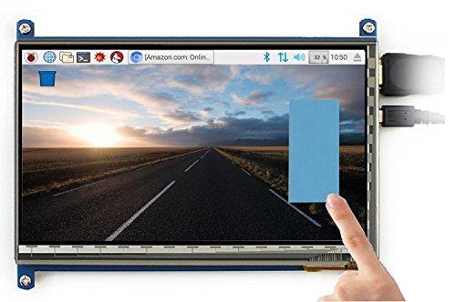 cocopar® Raspberry Pi 7インチHDMI タッチモニター ディスプレイ タッチスクリーン Pi 3B 2B B A A B 用