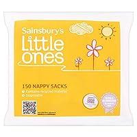 (Sainsbury's) 小さなものおむつ袋X150 (x6) - Sainsbury's Little Ones Nappy Sacks x150 (Pack of 6) [並行輸入品]