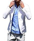 (ジョーカーセレクト(JOKER Select) テーラードジャケット 綿 麻 イタリアンカラー M ホワイト(01)