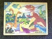 Wooden Dinosaur Puzzle 24 Pieces [並行輸入品]