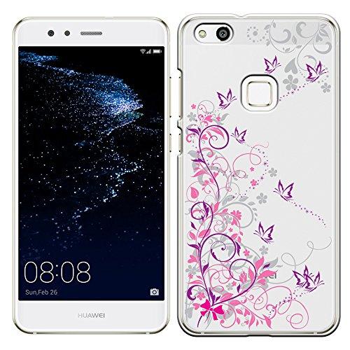 「Breeze-正規品」iPhone ・ スマホケース ポリカーボネイト [透明-Purple] HUAWEI P10 lite ケース ファーウェイ p10 lite カバー SIMフリー カバー 液晶保護フィルム付 全機種対応 [P10L]