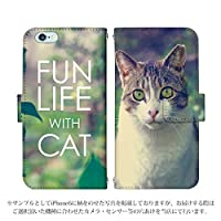 iPhone XR 手帳型 ケース [デザイン:15.キジトラ白猫/マグネットハンドあり] 猫 ネコ ねこ かわいい アニマル柄 アイフォン アイホン スマホ カバー