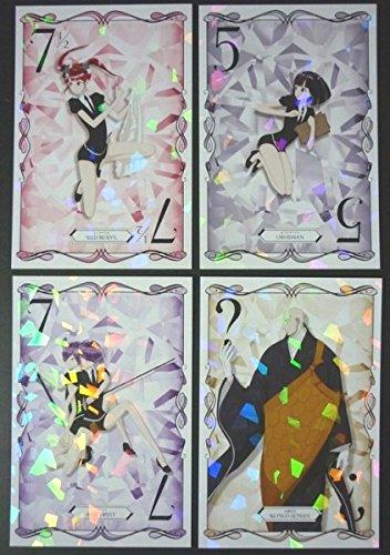 宝石の国  アニメイト キャンペーン 第8弾 ビジュアルカード 4種セット オブシディアン レッドベリル アメシスト 金剛先生