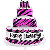 ヘリウムバルーン 箔 大 ケーキ 誕生日 パーティー 装飾 子供 赤ちゃん 100 * 69cm