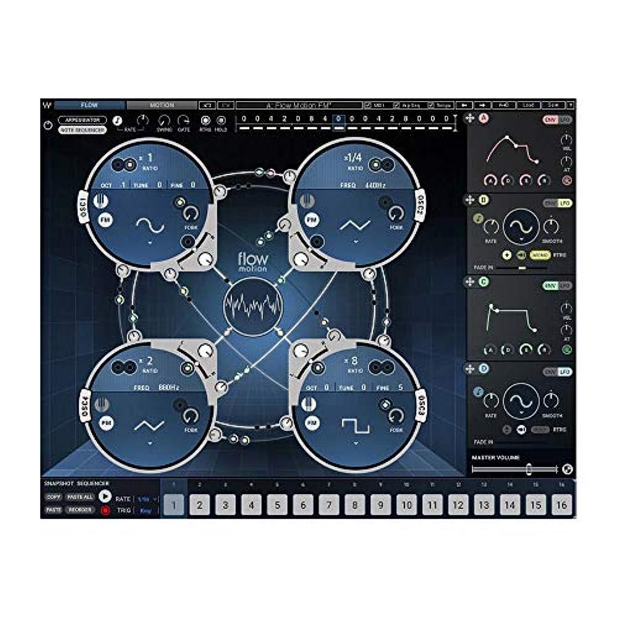 佐賀対話エンコミウムWAVES Flow Motion FM Synth プラグインソフト 【ダウンロード版】 ウェーブス