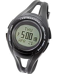 [ラドウェザー]ランニング ウォッチ 平均/最低/目標 速度/距離/100ラップ/消費カロリー ダイエット/ウォーキング/ジョギング/マラソン 腕時計