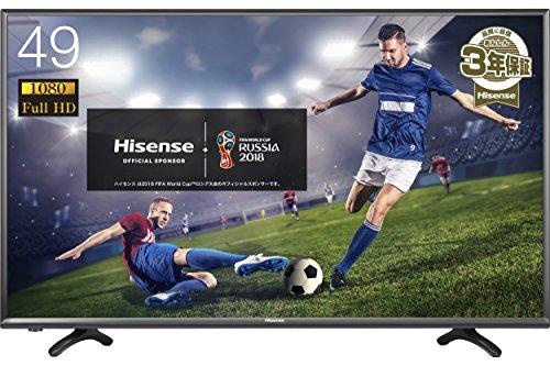 ハイセンス 49V型 フルハイビジョン 液晶 テレビ  HJ49K3121 外付けHDD録画対応(裏番組録画)