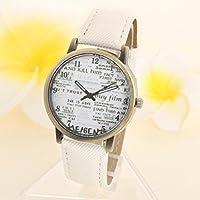 腕時計 TangQI 日常的防水 ステンレススチール レザーバンド  アナログ表示 軍事  スポーツ メンズクォーツ腕時計 ビジネスウォッチメンズ (ホワイト)