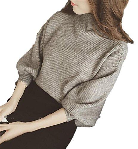(Fumufumu)父母恩父母恩上衣女裝針織衫長袖卷袖子舒展柔軟輕便