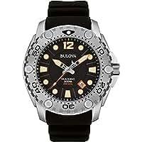 [ブローバ] Bulova 腕時計 SEA KING DIVERS WATCH Men's Black Silicone Band Black Dial w Date Window クォーツ 96B228 【並行輸入品】