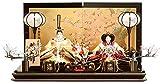 人形の久月 雛人形 ひな人形 平飾り 親王飾り 束帯十二単姿 刺繍 京極 桜華セット h283-kcp-s28241nr