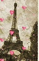 paris Eiffel Tower pink hearts Vintage creative blank page journal