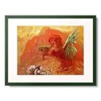 ルドン 「ペガサス Pegasus Triumphant. 1905」 額装アート作品