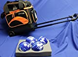 BSIローラーボーリングボールバッグ–4ボール–ブラック&オレンジ