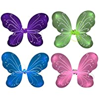 YeahiBaby 4pcs Fairy Butterfly Wings Fairy Fancy Princess Costume Dance Performance Wings