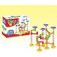 58pcs DIYビルディングブロックトラックRun Race Tower MarbleボールコンストラクションToys