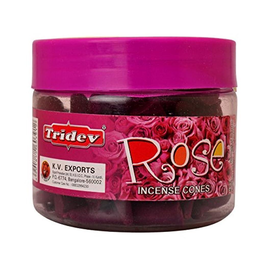 病的シロクマ職人Tridev Rose Incense Cones Jar 90グラムパック